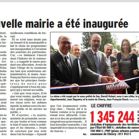 Inauguration de la mairie de Chevry