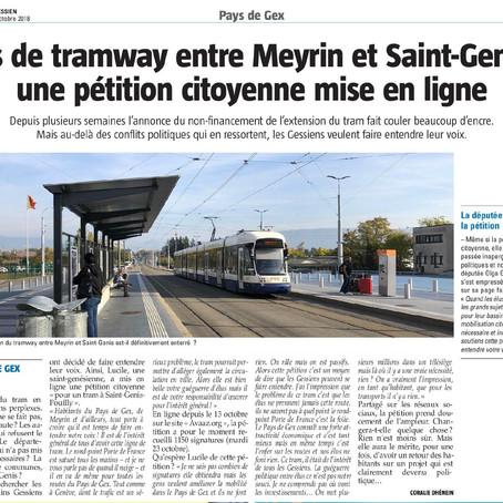 Le Pays Gessien : Pas de tram entre Meyrin et Saint-Genis : pétition citoyenne en ligne