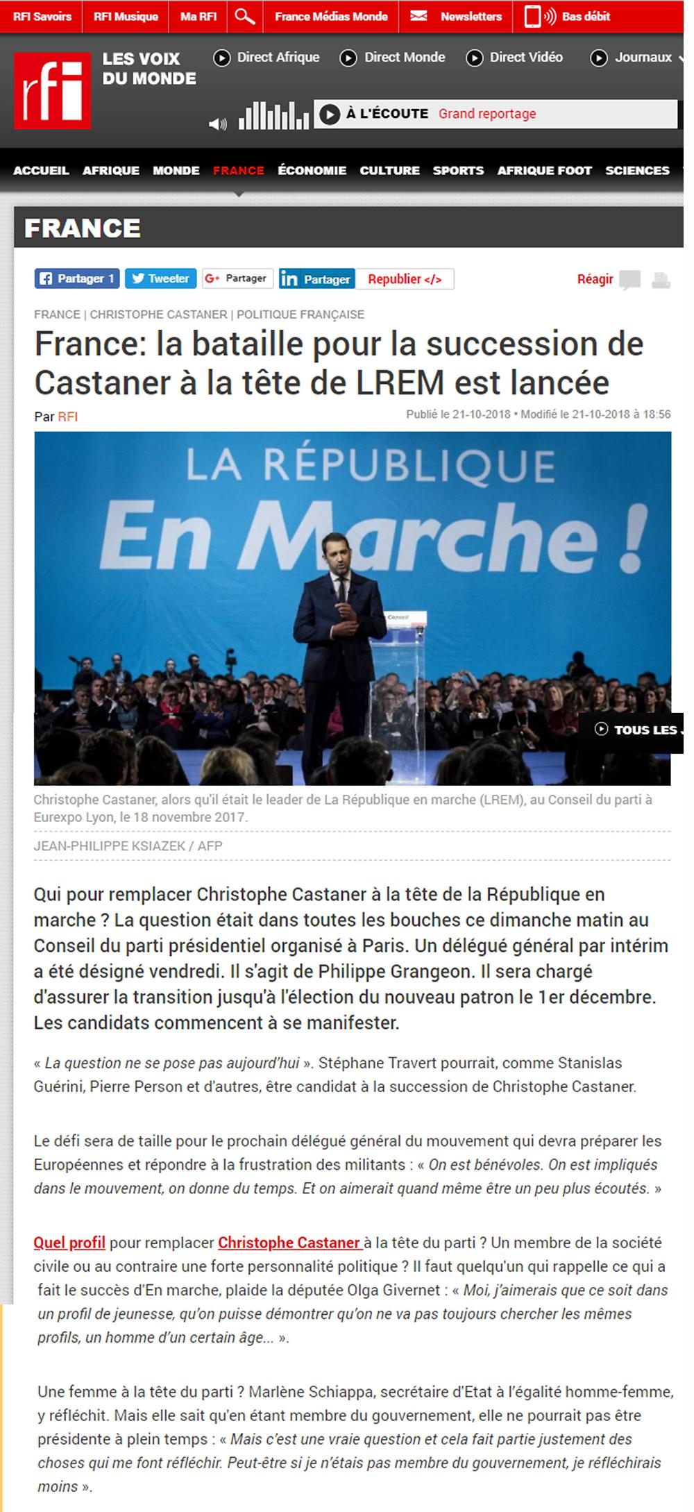 Article RFI