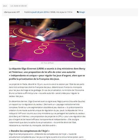 """CBanque : Bientôt une autorité """"indépendante et unique"""" pour réguler les jeux d'argent"""