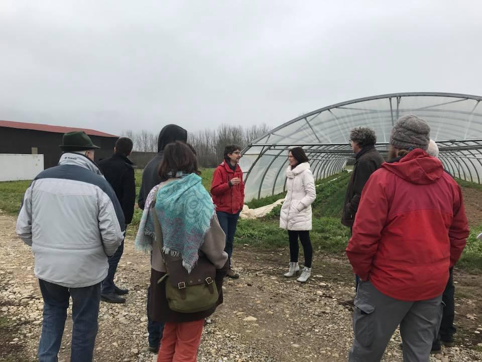 visite de la ferme maraîchère des Flam'en Vert à Peyrieu