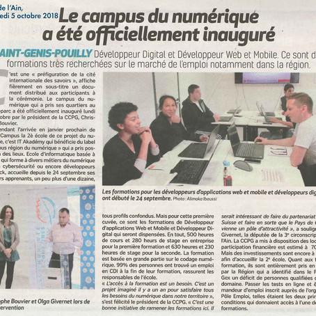 Voix de l'Ain : Le campus du numérique a été officiellement inauguré