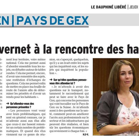 Le Dauphiné libéré : Olga Givernet à la rencontre des habitants