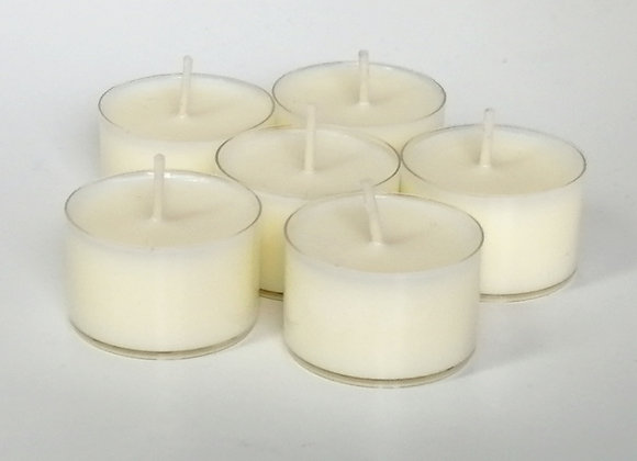 Large Wild Rose & English Pear Soy Wax Tealights x 6