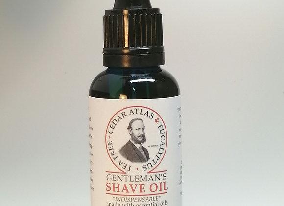 Gentleman's Shave Oil with Tea Tree, Cedar Atlas & Eucalyptus