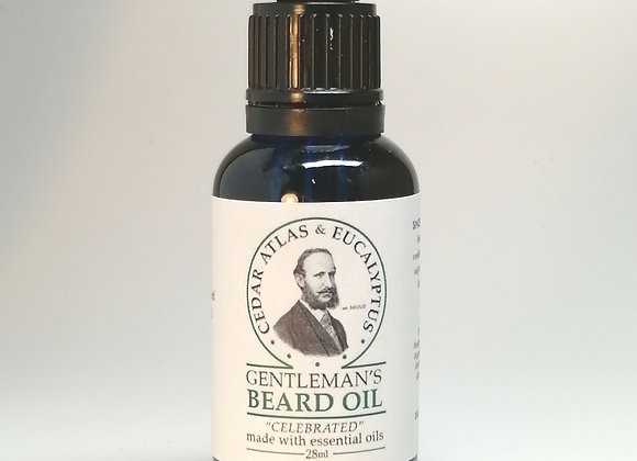 Gentleman's Beard Oil with Cedar Atlas & Eucalyptus