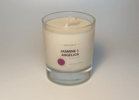 Jasmine & Angelica Soy Glass Candle