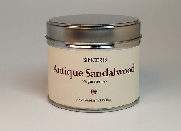 Antique Sandalwood  Soy Wax Candle
