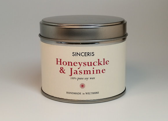 Honeysuckle & Jasmine Soy Wax Candle