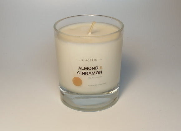 Almond & Cinnamon Soy Glass Candle