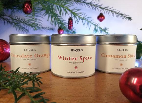 Trio of Christmas Candles