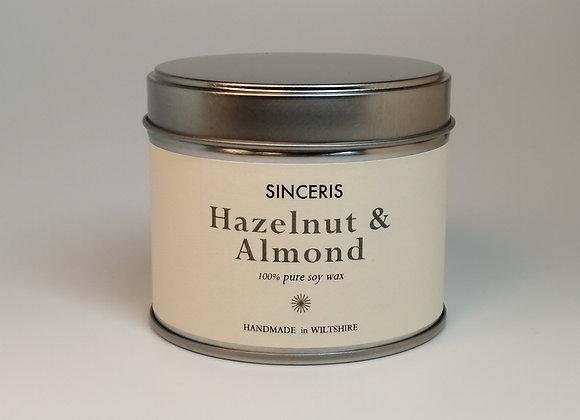 Hazelnut & Almond Soy Wax Candle