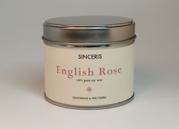 English Rose Soy Wax Candle