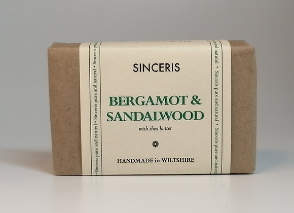 Natural Bergamot & Sandalwood Soap 100g