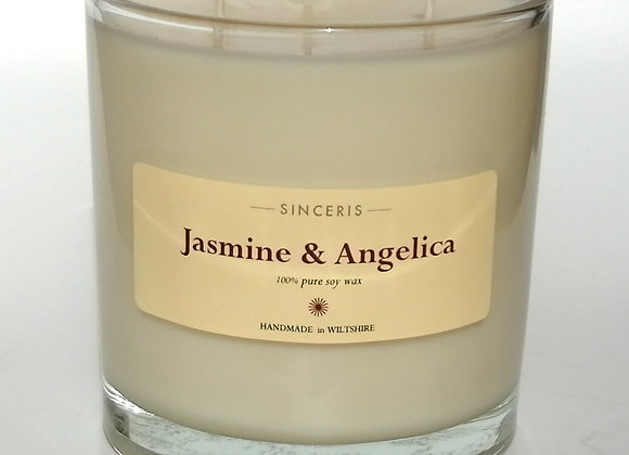 Giant Jasmine & Angelica 3 Wick Soy Wax Candle