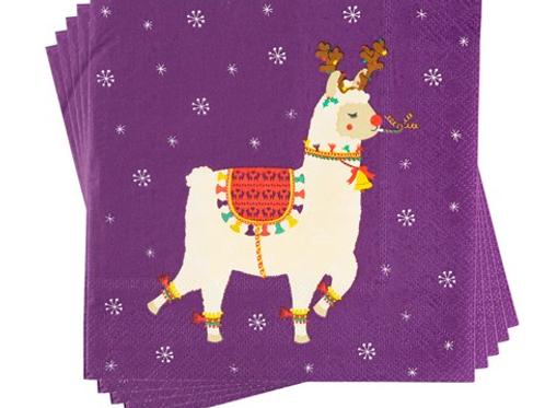 Llama Christmas Napkins