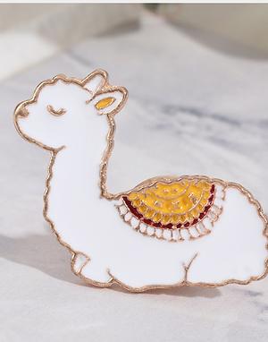 Alpaca Pin Badge