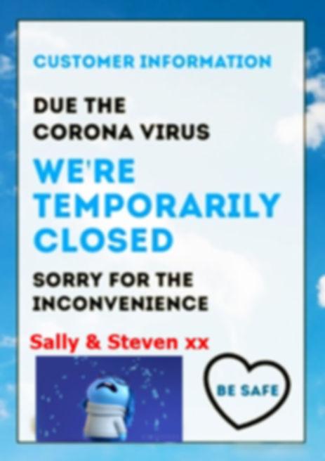 corona-information-customer-poster-flyer