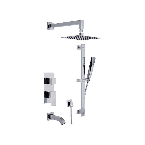 Shower Faucet With Hand Shower Tub Set