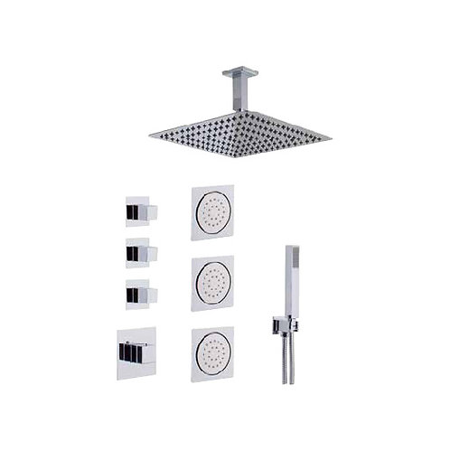 Shower Faucet With Hand Shower And Jet Set