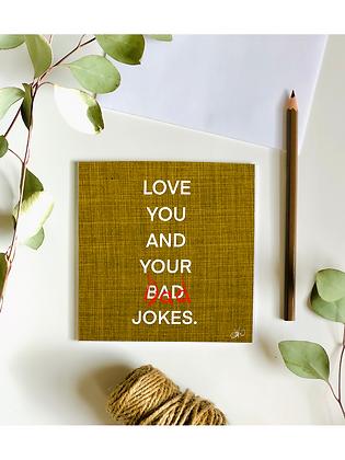 Dad Jokes Card