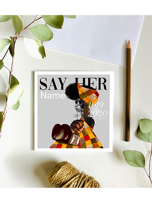Say Her Name Card