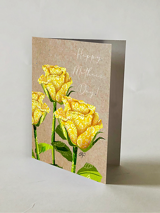 Yellow Roses Mother's Day Card