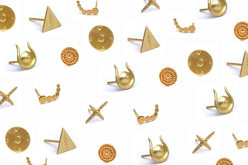 Mix & Match Gold Studs