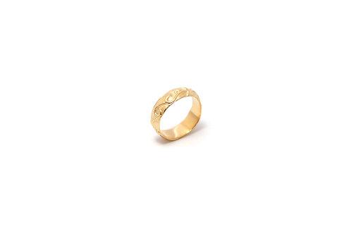 Pasiflora pinky gold ring