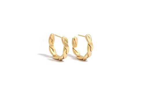 Braid Hoop Earrings