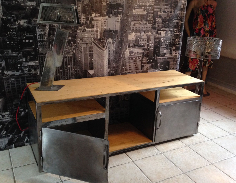 sens int rieur d coration s bastien muller cr ation mobilier acier meuble industriel vintage. Black Bedroom Furniture Sets. Home Design Ideas