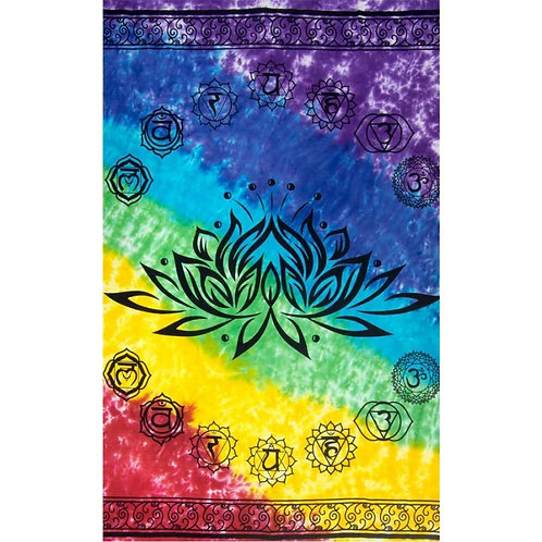 Chakra Lotus Tapestry