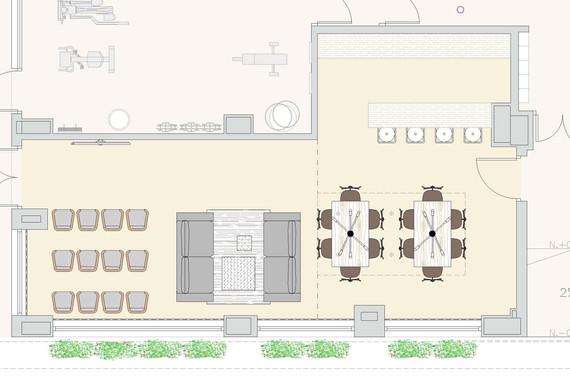 Multipurpose & Entertainment room - Plan