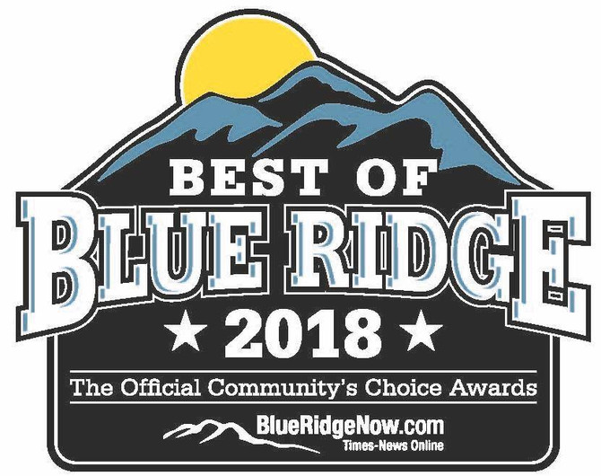 We Are Proud to have been Nominated as Best of Blue Ridge Garden Center and Green Business!!