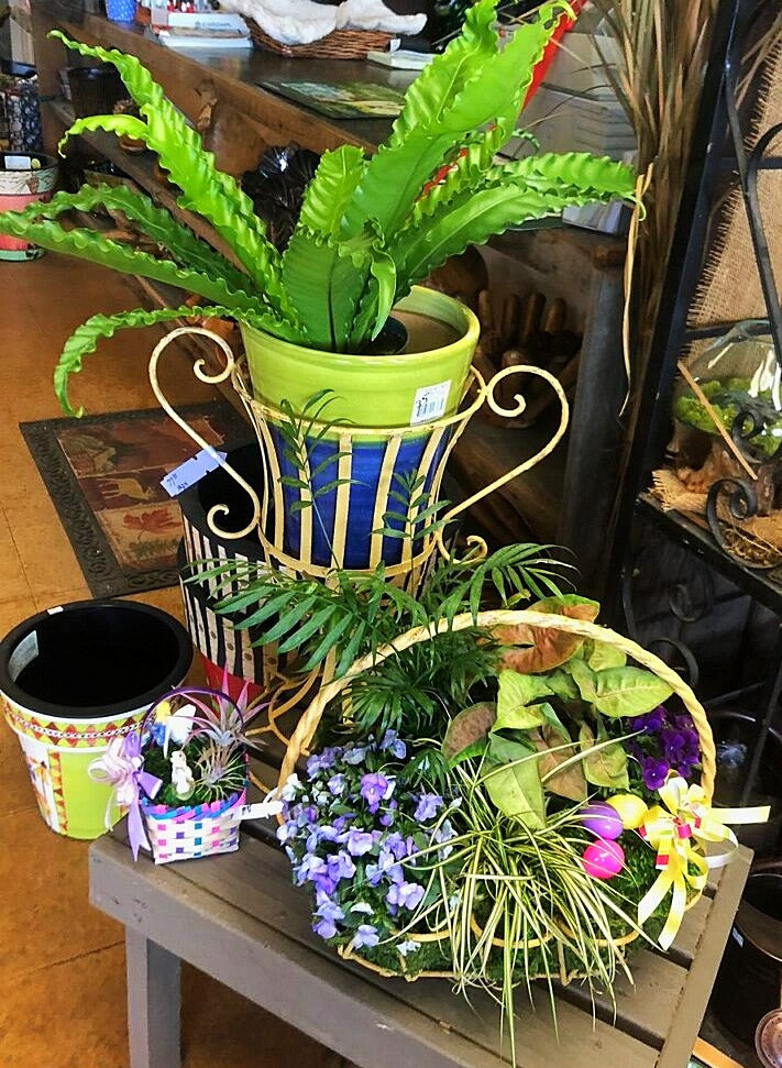 Easter Baskets at A Growing Concern Garden Center in Hendersonville