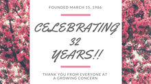 Thank You for 32 Great Years!