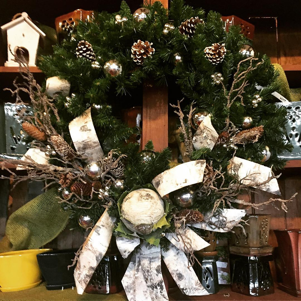 Decorated Christmas Wreath in Henderson County
