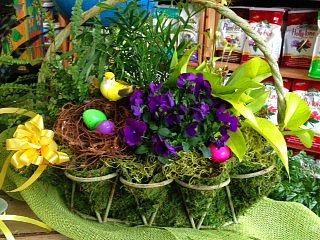 Colorful Easter basket at A Growing Concern garden center in Hendersonville
