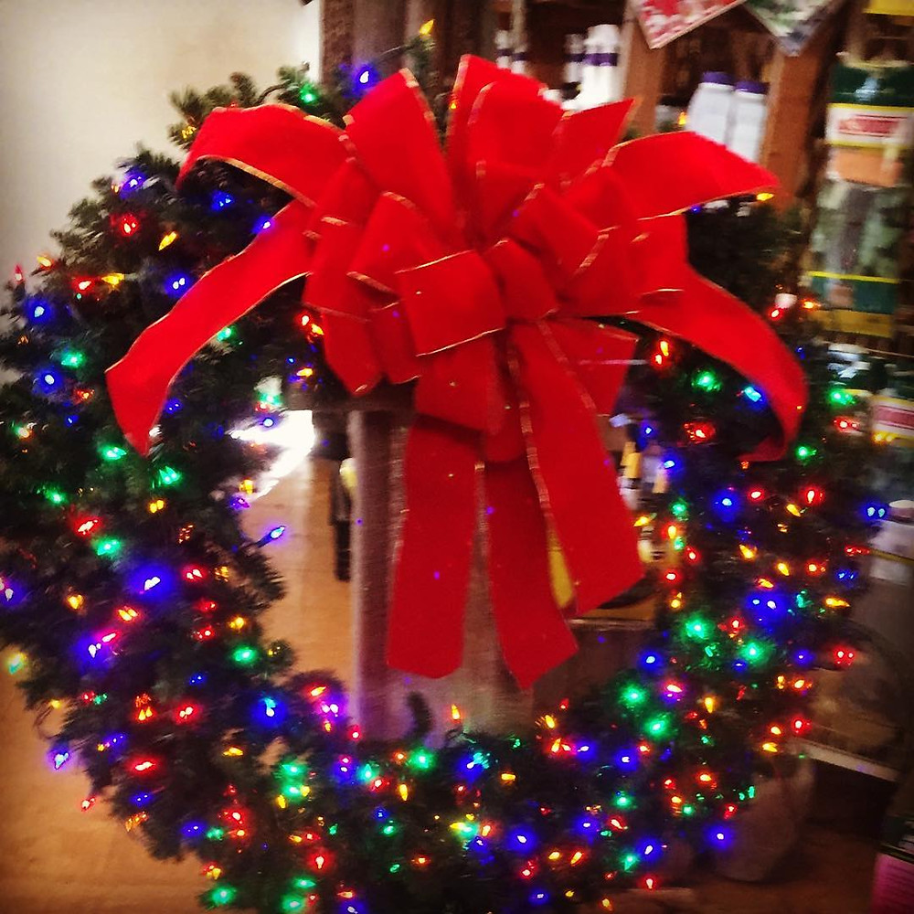 Decorated Christmas Wreath in Hendersonville, NC
