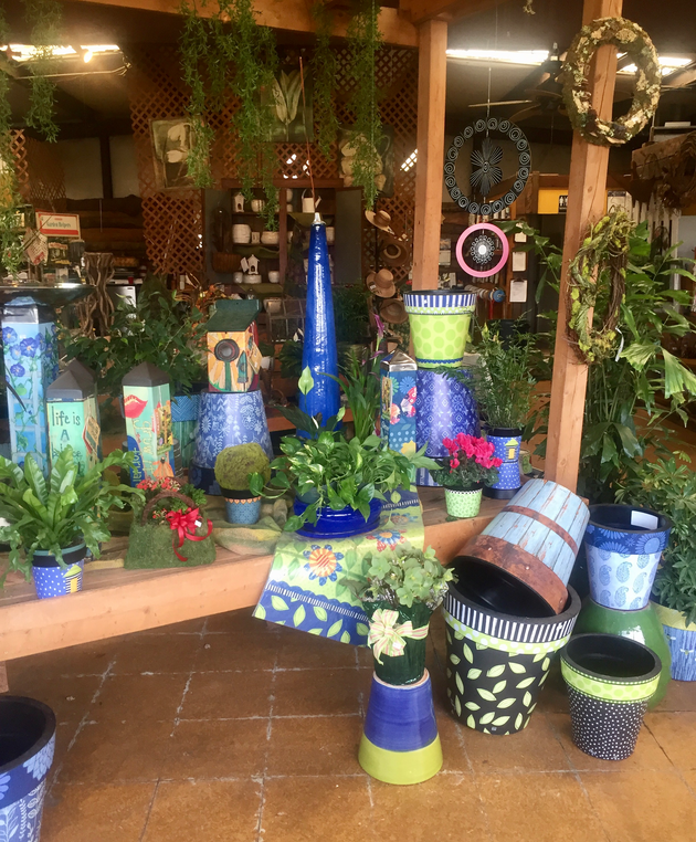 Colorful Pottery for Spring!