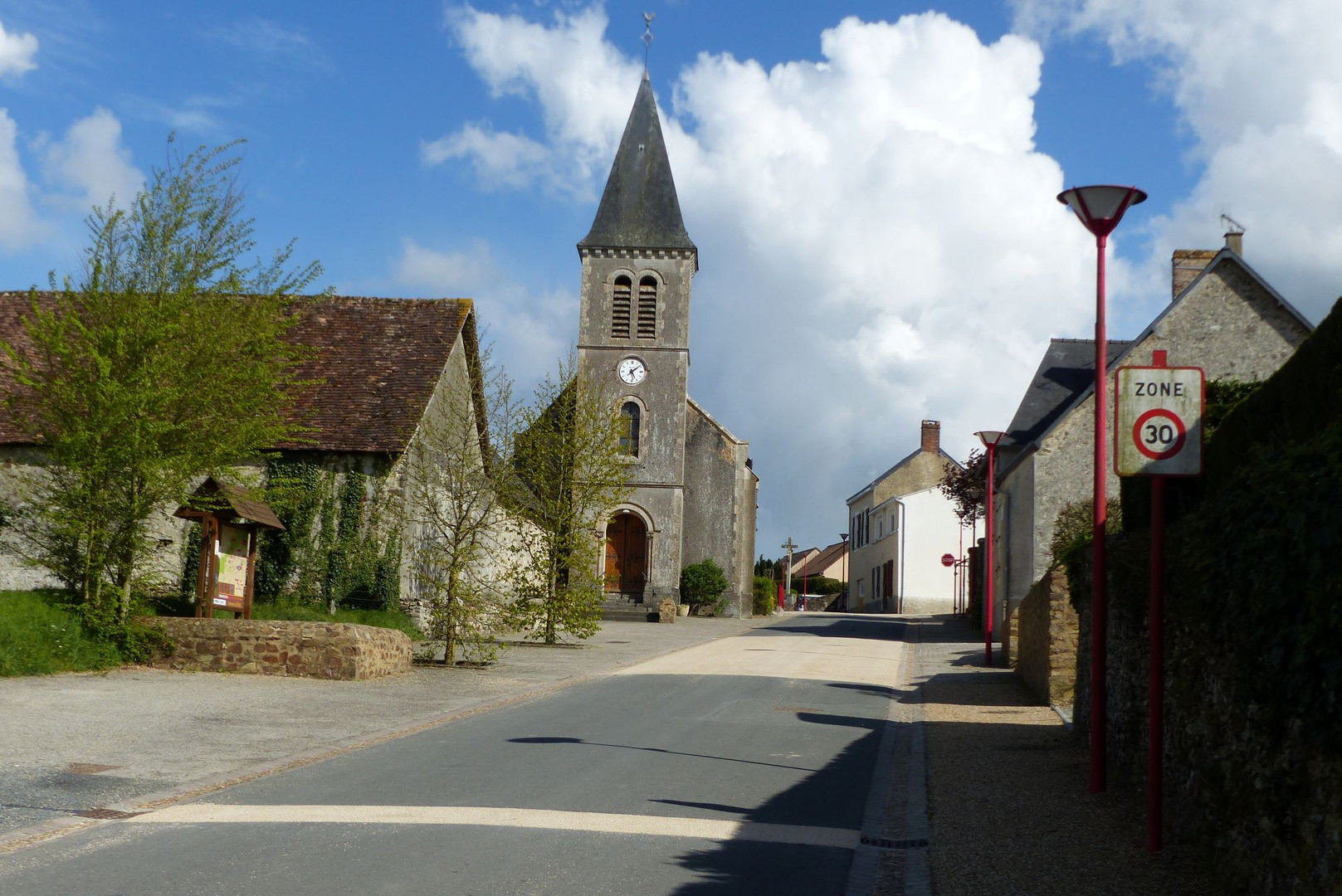 Le Grez, commune rurale