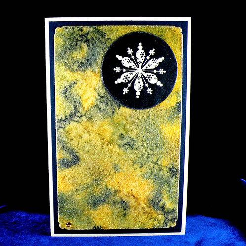 Carte de Noël au flocon blanc