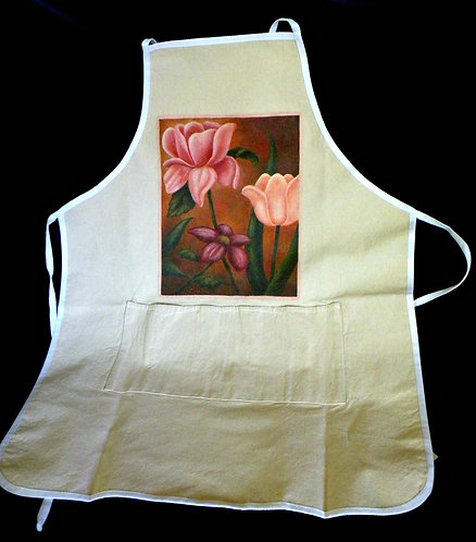 Tablier à motifs fleuris