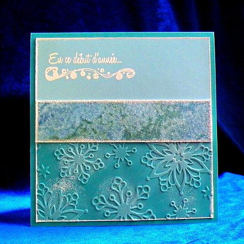 Petite carte de Noël avec bande de papier artisanal