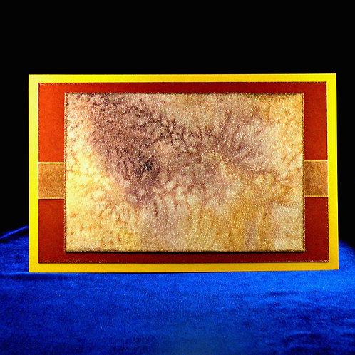 Carte à grand panneau jaune et brun