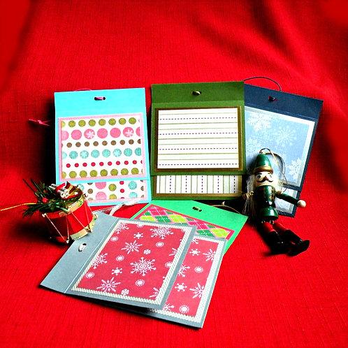 Enveloppes-porte cartes- à motifs à suspendre dans l'arbre de Noël
