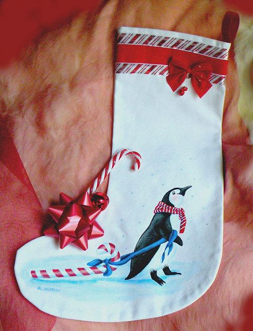 Bas de Noël Monsieur Pingouin