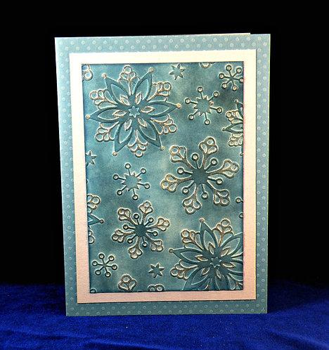 Carte de Noël aux flocons métallisés