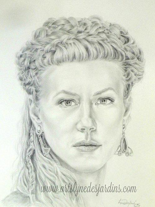 Portrait de Lagherta Lothbrook de la série Vikings