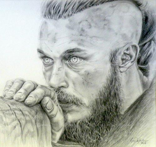 Portrait Ragnar Lothbrook de la série Vikings